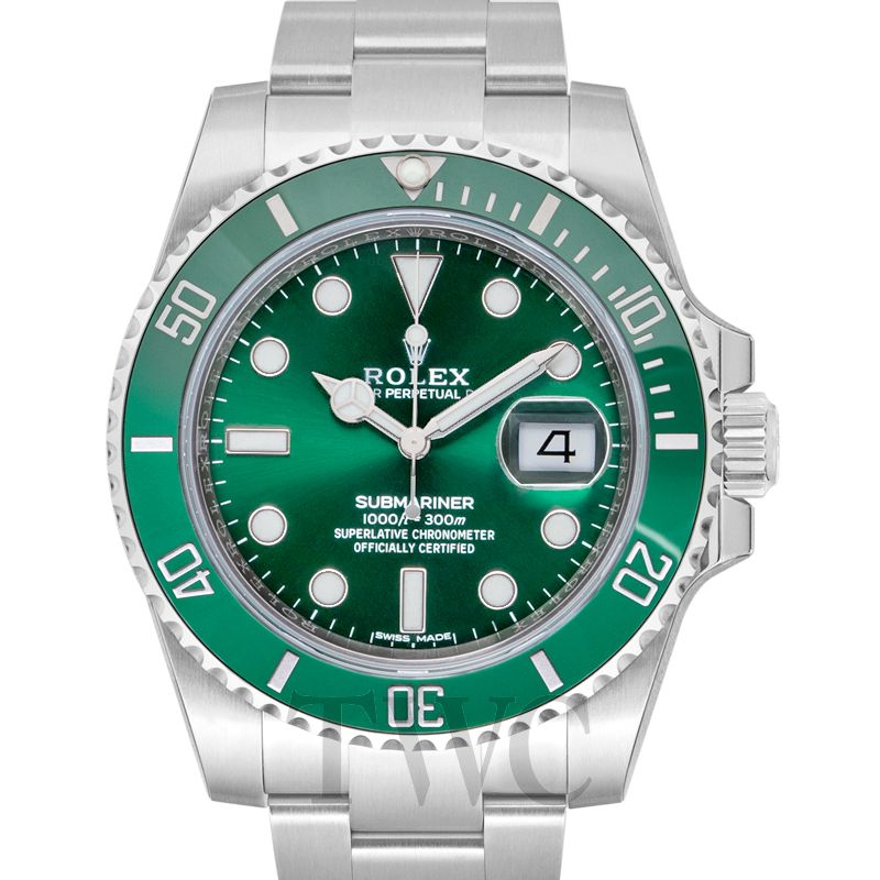 Rolex Submariner Green Dial Steel Men S Watch 116610lv