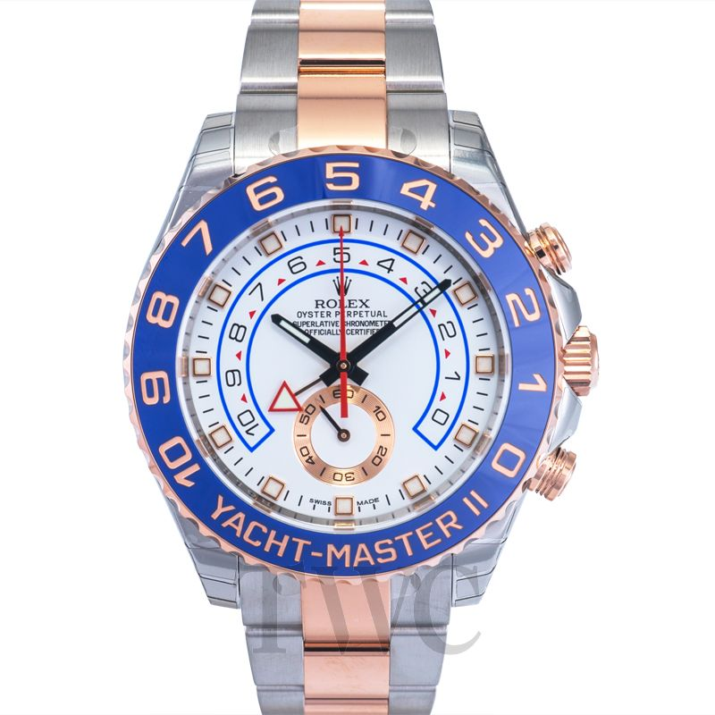 Rolex Yacht Master Ii White Dial Stainless Steel And 18k Everose Gold Oyster Bracelet Automatic Men S Watch 116681waso