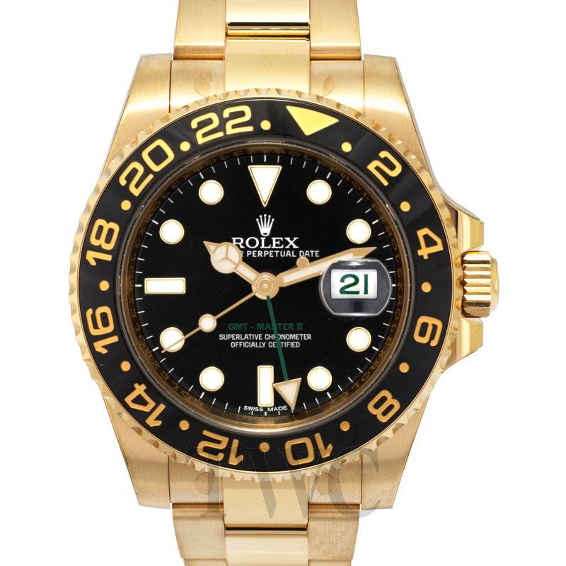 Gmt Master Ii Black 18k Gold O40mm