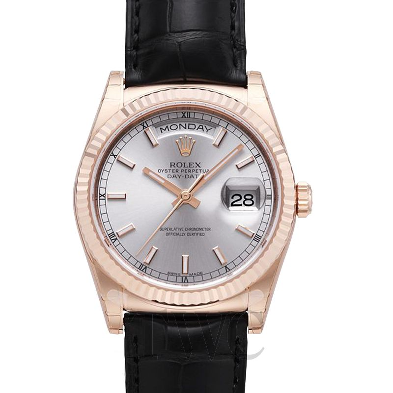 Rolex Day Date leather watch