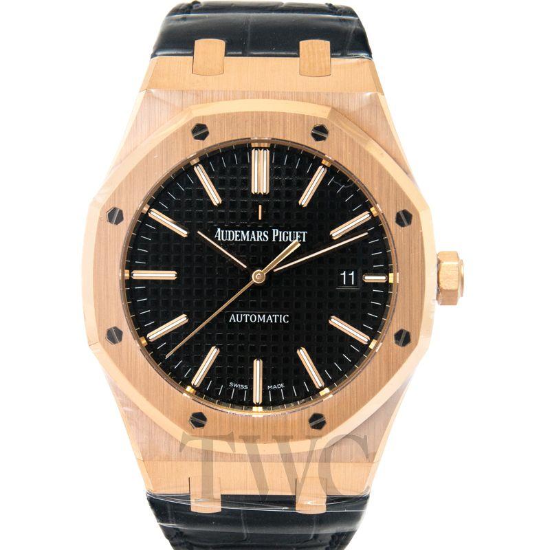 Audemars Piguet Royal Oak 18k pink gold/Leather 41mm 15400OR.OO.D002CR.01