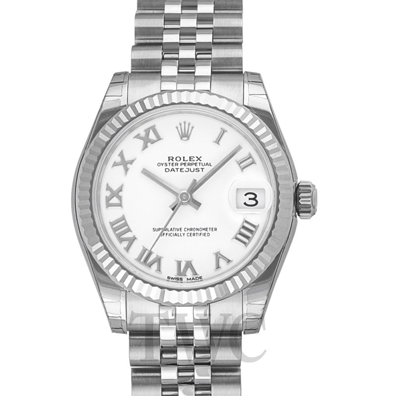 Datejust 31 Stainless Steel Fluted / Jubilee / White Roman