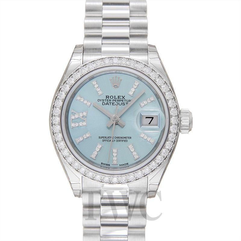 Rolex Lady Datejust 28 Blue Platinum Diamonds 279136RBR-0001