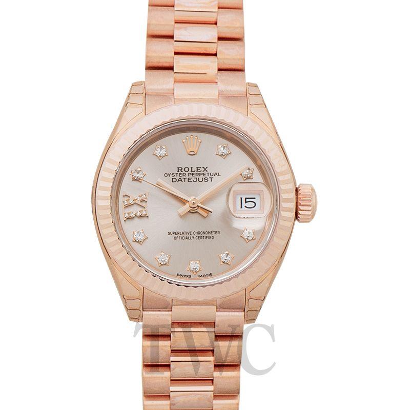 Rolex Lady Datejust 28 18k Everose Gold 279175-0005G