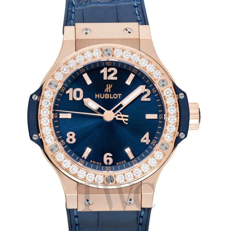 Hublot One Click King Gold Blue Diamonds, Ornamental, Diamonds, Luxury Watch