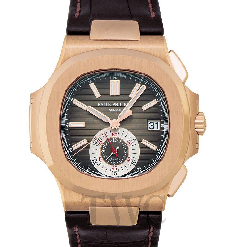 Patek Philippe Nautilus Black-Brown Dial 18kt Rose Gold 5980R-001