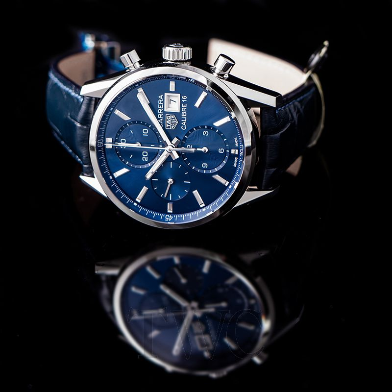 innovative design 5f34f e4290 Carrera Calibre 16 Chronograph Automatic Blue Dial Men's Watch