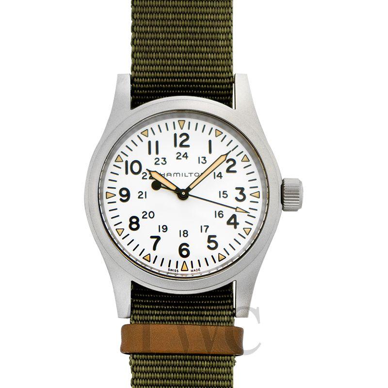 Khaki Field Black Dial Men S Mechanical Watch Green Steel 38mm