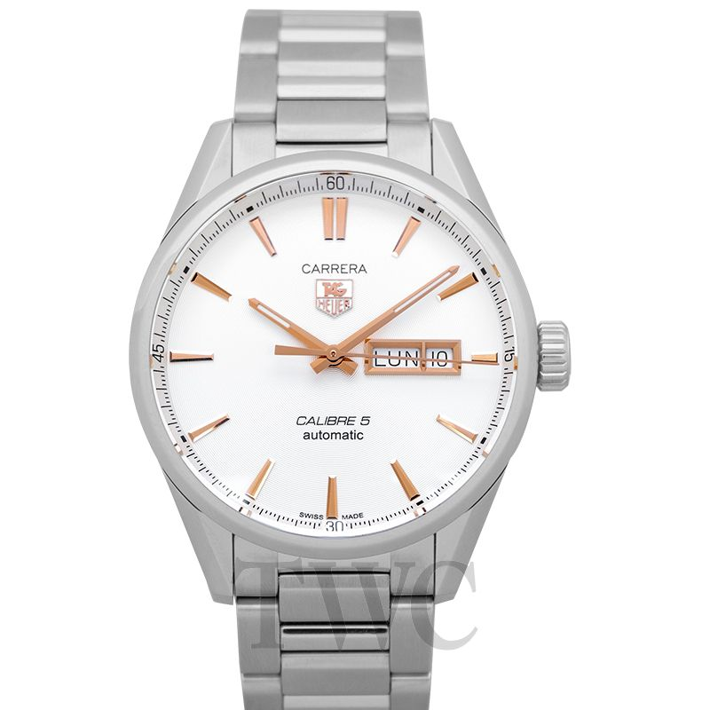 buy online c2b81 a2ff5 Carrera Calibre 5 Day-Date Automatic Silver Dial Men's Watch