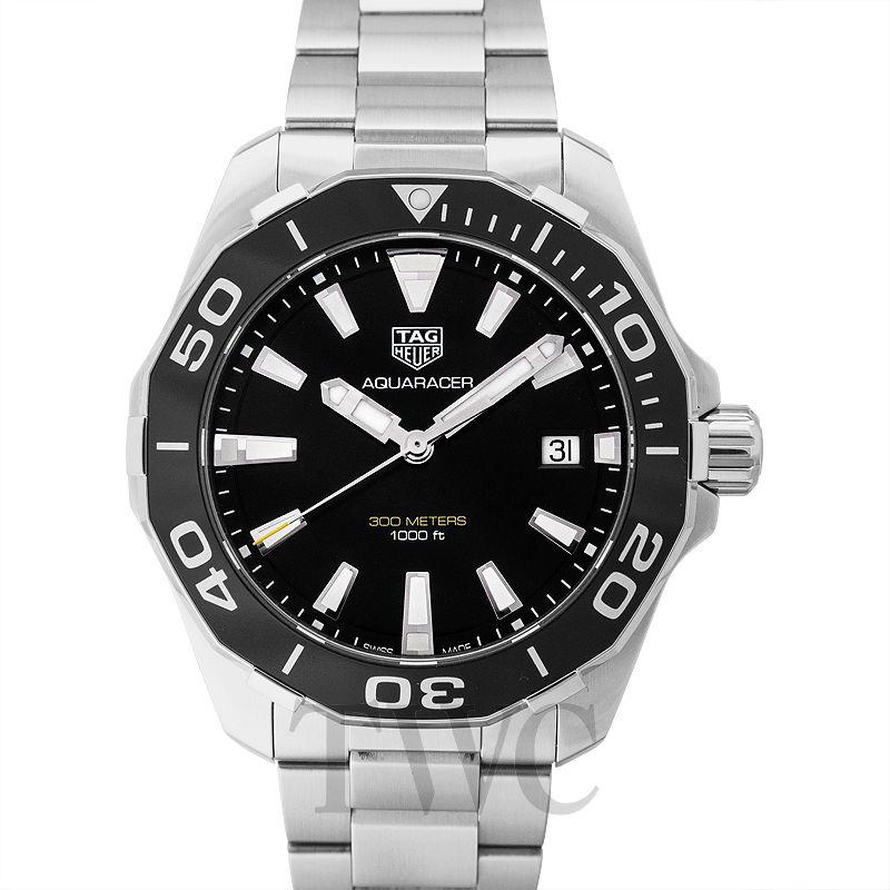 huge selection of 5b075 e1839 New Aquaracer Quartz Black Dial Men's Watch WAY111A.BA0928 ...