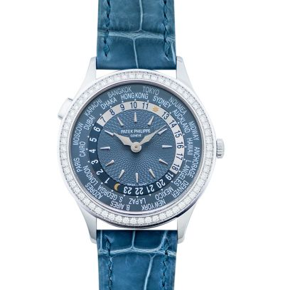 42158d7640b Patek Philippe Complications. 7130G-014. Complications World Time Automatic  Diamond Blue Dial Ladies Watch
